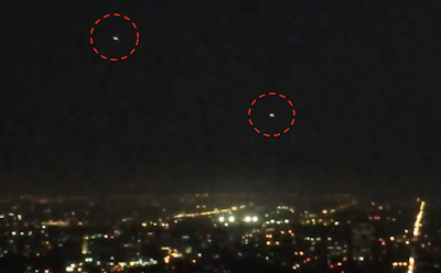 Glowing UFO's Captured Above Los Angles 2015, UFO Sightings