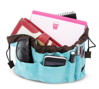 handbag organiser, aqua blue