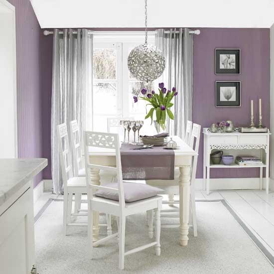 luxury purple dining room interior