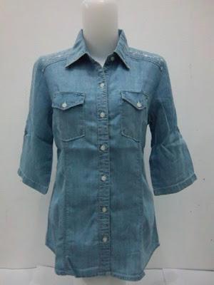Kemeja Jeans Wanita Ukuran Big Size