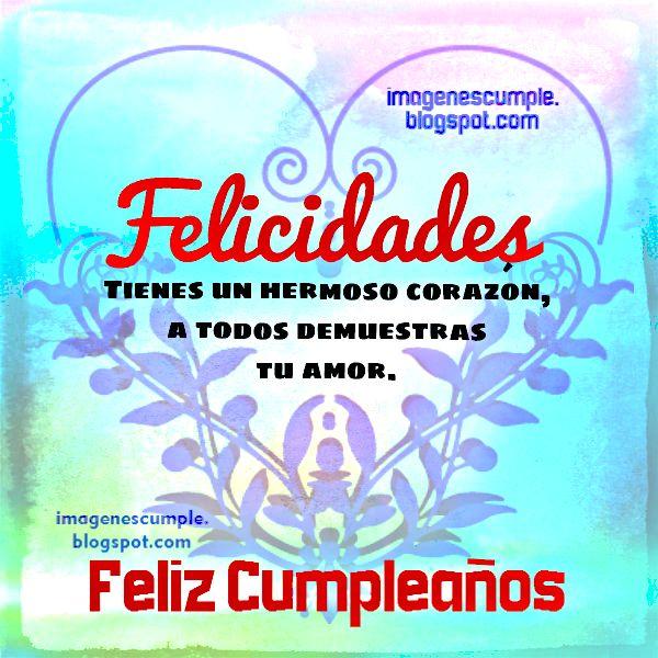 Tarjeta de Cumpleaños Felicidades. Imagen con mensaje bonito para felicitar cumpleaños. Felicitaciones en cumple.