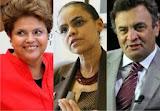 Ibope: Dilma tem 39% das intenções de voto, Marina 31%, e Aécio, 15%