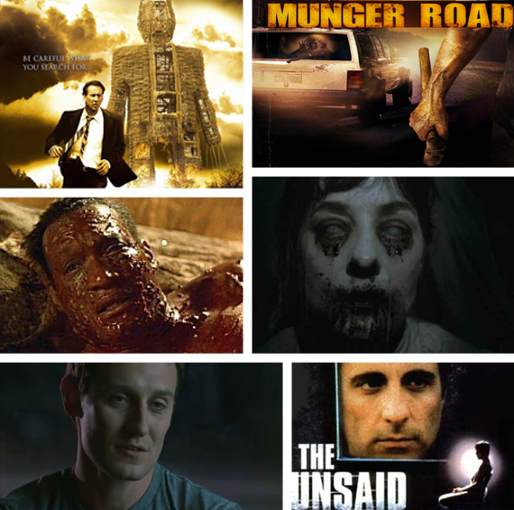The Innkeepers, The Wicker Man, The Unsaid, Munger Road, CandyMan e Beneath The Dark