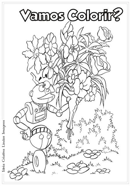 Desenho do Adiboo para colorir