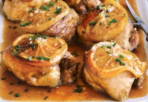 Курица в духовке с апельсинами рецепт с
