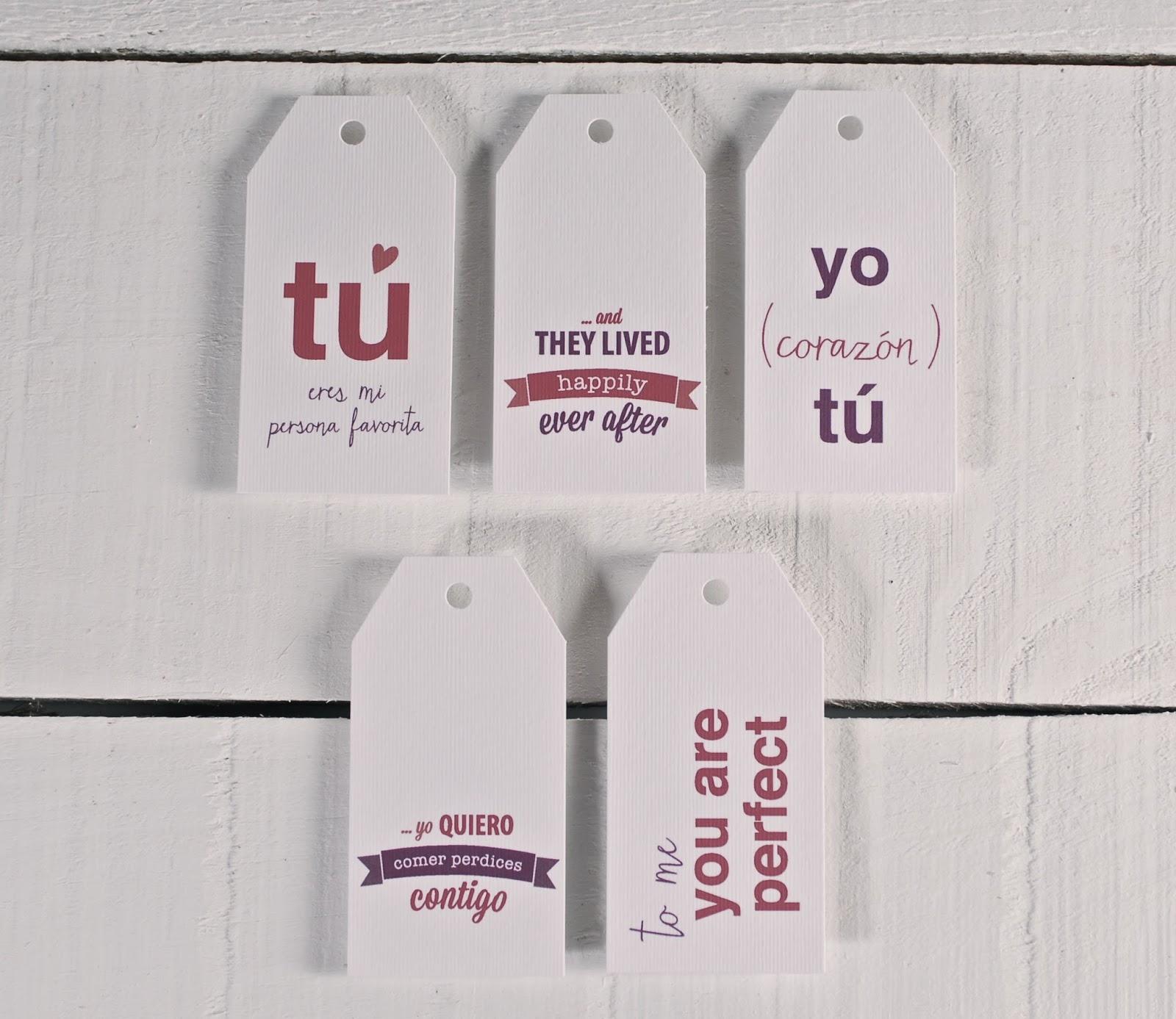 etiquetas impresas, etiquetas de regalo impresas, frases de amor, etiquetas impresas con frases de amor, etiquetas de amor, ideas para san valentín, san valentín