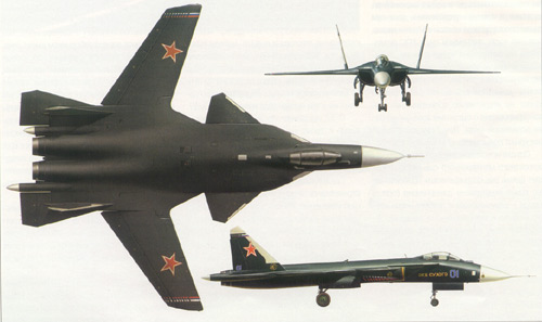 Sukoi-47 Experimental Rusia Jet Fighter