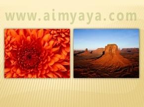 Gambar:  Contoh photo slideshow dengan microsoft powerpoint