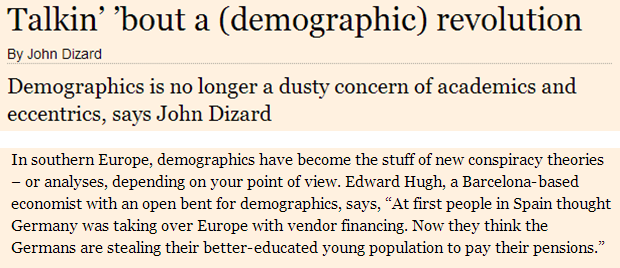 Talkin' bout a (demographic) revolution