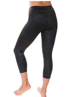 Style Athletics Onzie Activewear Capri Pant Black Leopard