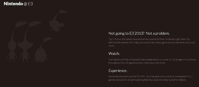 Image of Nintendo's official E3 website
