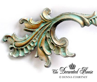 The Decorated House - Step by Step Tutorial Aged Turquoise Patina French Pulls
