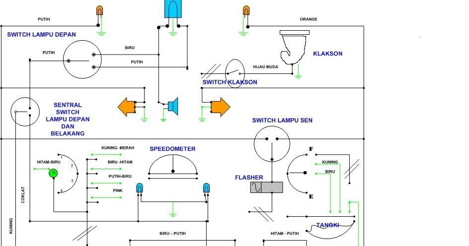 Belajar Elektronik  Skema Kelistrikkan Lampu Motor