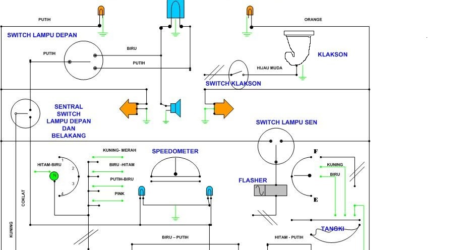 Belajar elektronik skema kelistrikkan lampu motor ccuart Image collections