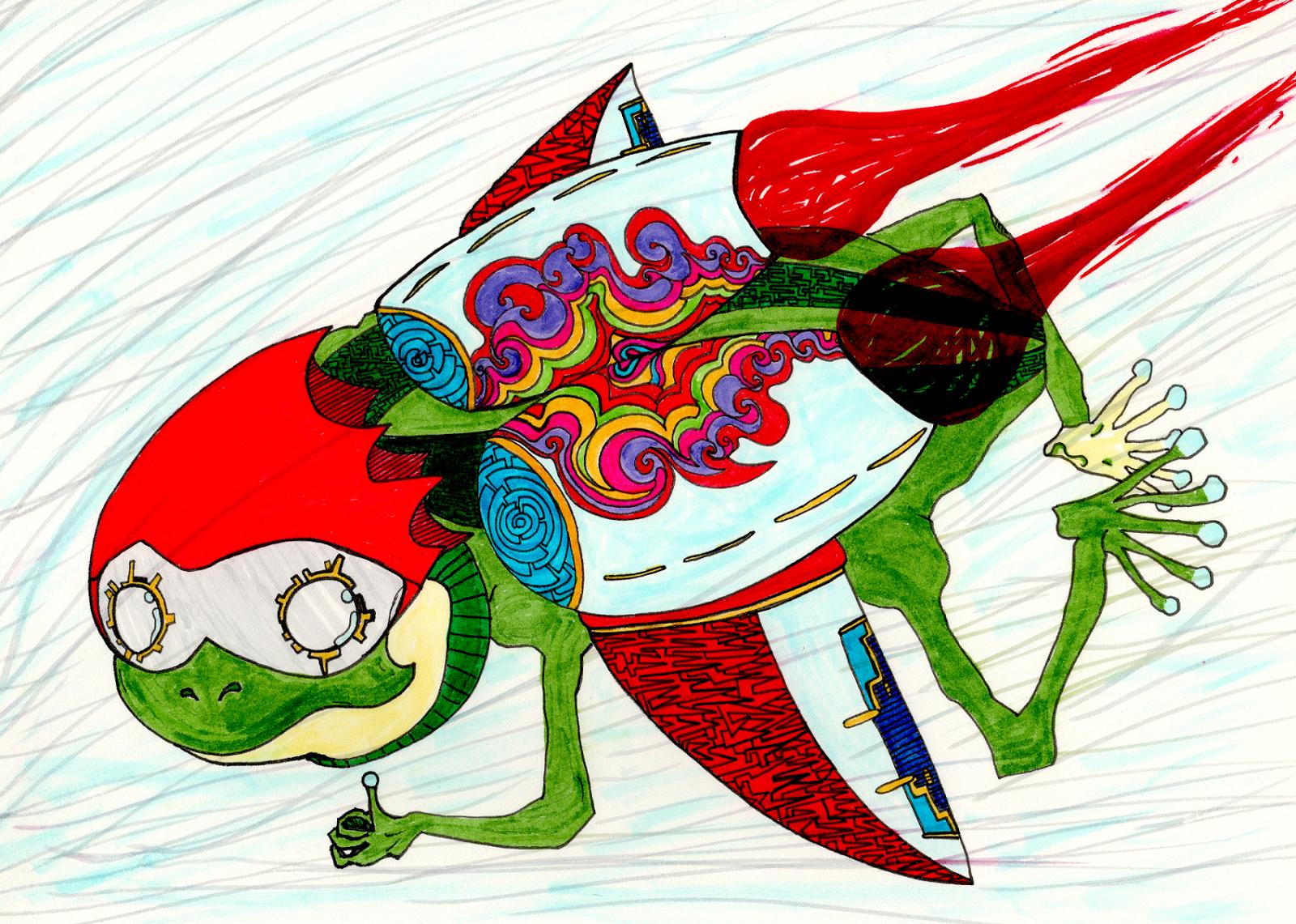 トブカエル / Frog flying
