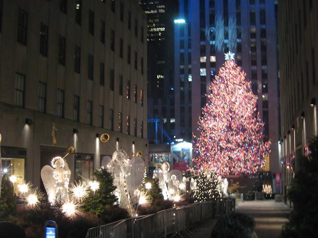 Arbol de navidad en New York Iluminado