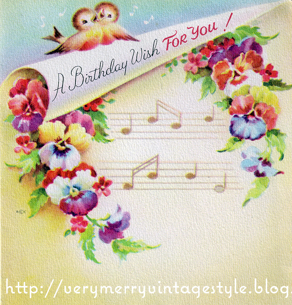 Very merry vintage syle vintage birthday cards share the love for your personal non commercial use m4hsunfo