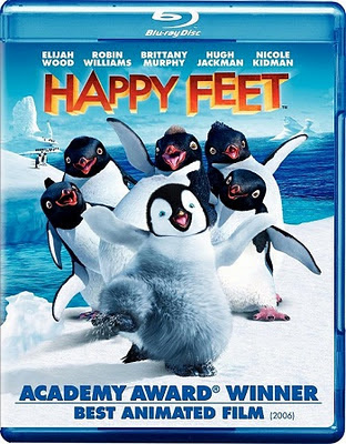 Happy Feet (2006) Blu Ray Rip 700 MB, happy feet, happy feet dvd cover, blu ray dvd cover