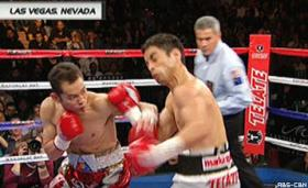 Donaire won the WBC and WBO bantamweight titles by taking out Montiel in just two rounds