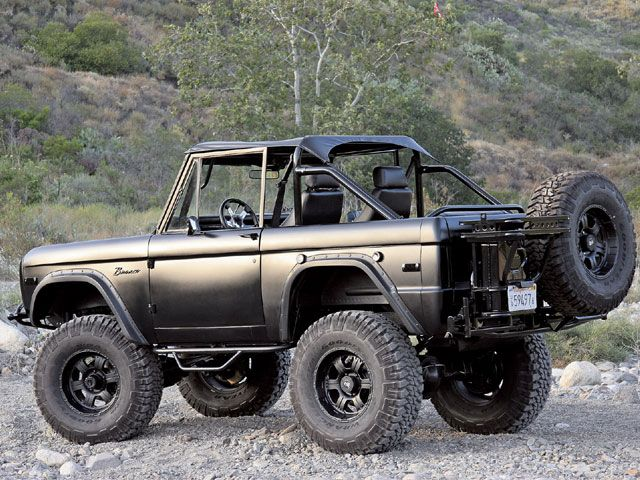 0811tr_09_z+1976_ford_bronco+left_rear_a
