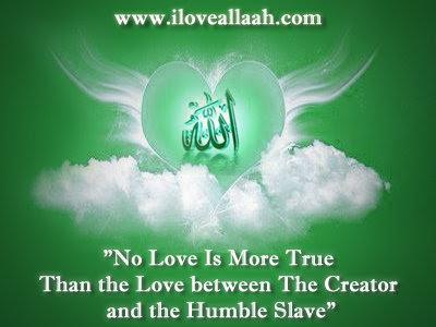 sebab cinta Allah kepada saya lebih hebat daripada cinta kita...