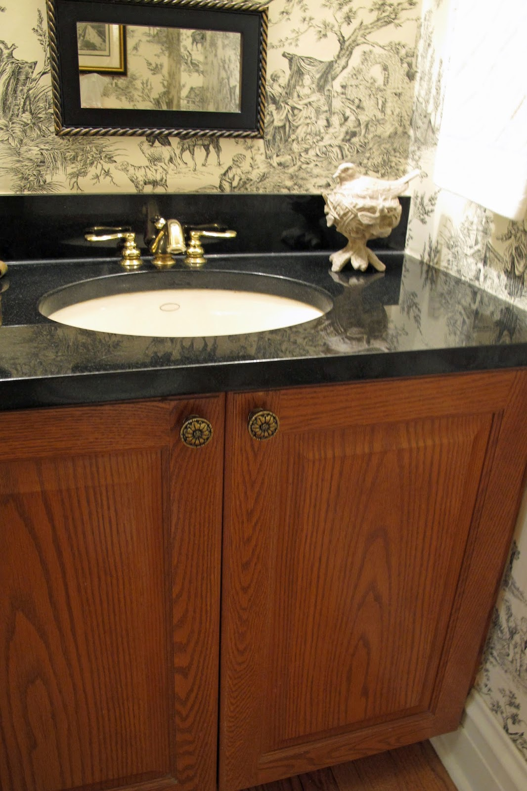 Just grand powder room update for Vanities for powder rooms