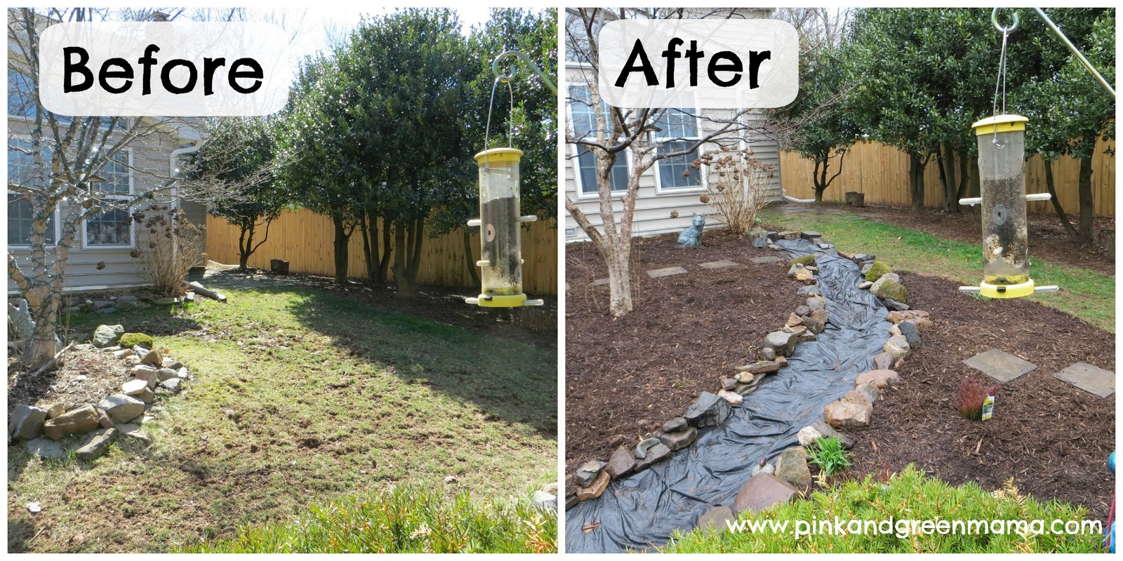 plain garden ideas before and after for yards with no grass decorating