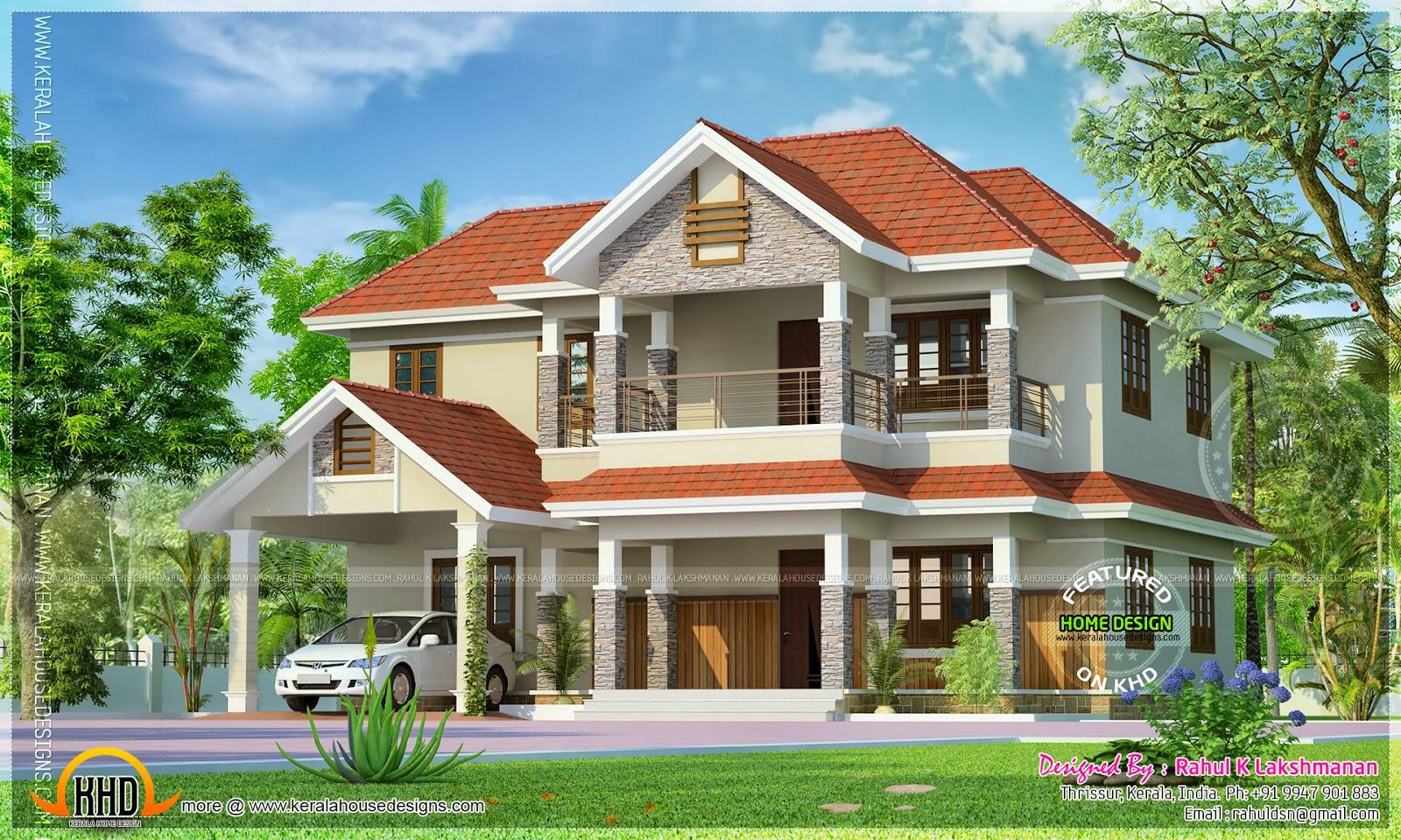 Double Storied Home Kerala Design Floor Plans Plan