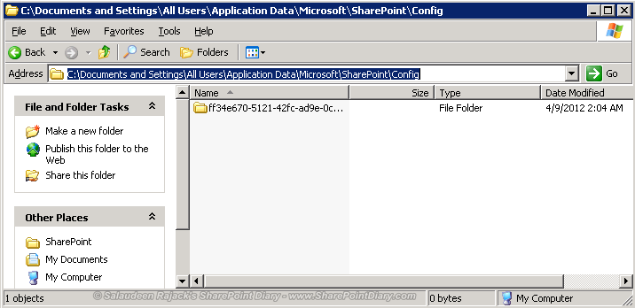 how to clear sharepoint config log sbs2011