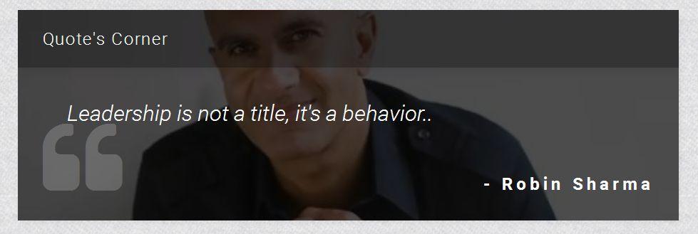 रॉबिन शर्मा यांचे ११ प्रभावशाली विचार