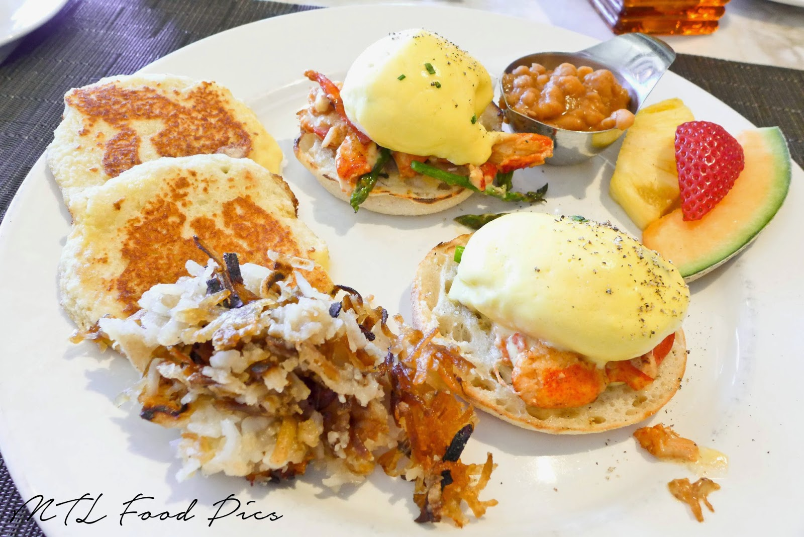 Luxe Bistro - Lobster Egg Benedict, Potato Latkes