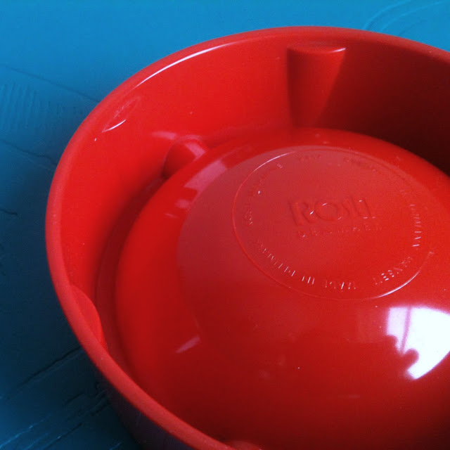 vintage Rosti Denmark danish ashtray red melamine 60s