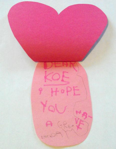Ladybug Valentine Heart Card Craft – Valentine Heart Card