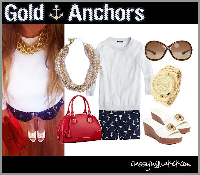 Anchor Shorts and Gold Chains
