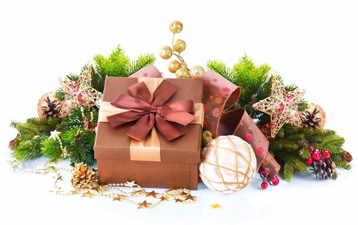 Banco de im genes 6 im genes con regalos de navidad y adornos navide os para hacer postales y - Adornos para fotos gratis ...