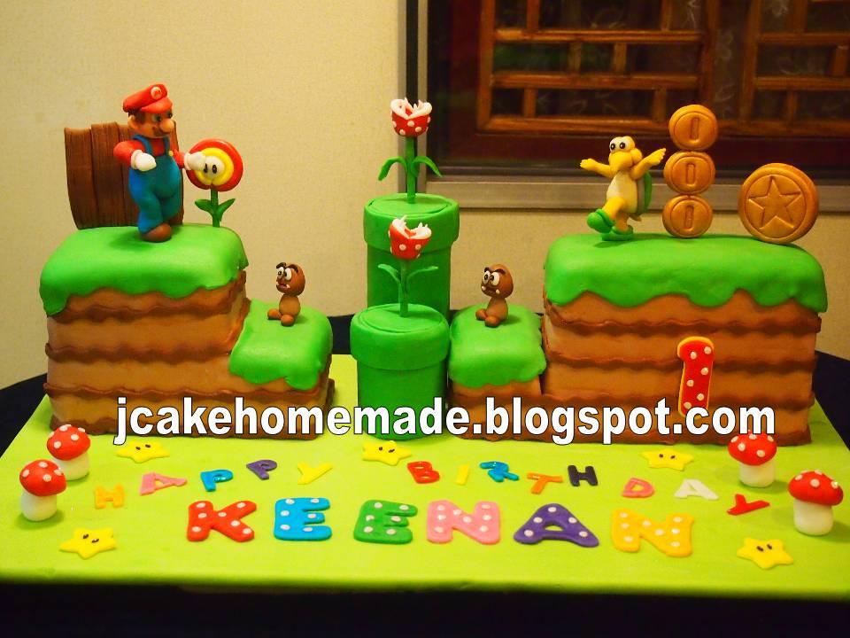 Jcakehomemade Super Mario Birthday Cake