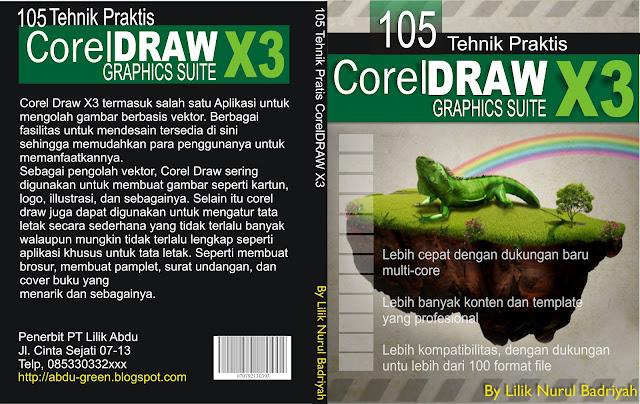 Contoh Buat Sampul Menggunakan CorelDRAW Graphics Suite X5