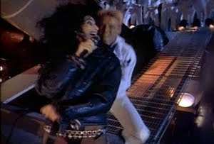 Cher in her 'If I Could Turn back Time' music video