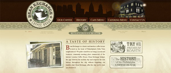 Retro and Vintage Styled Website design
