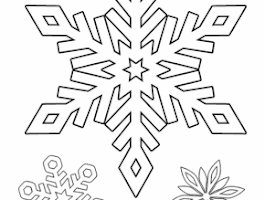 Free Printable Christmas Coloring Pages Snow Flakes