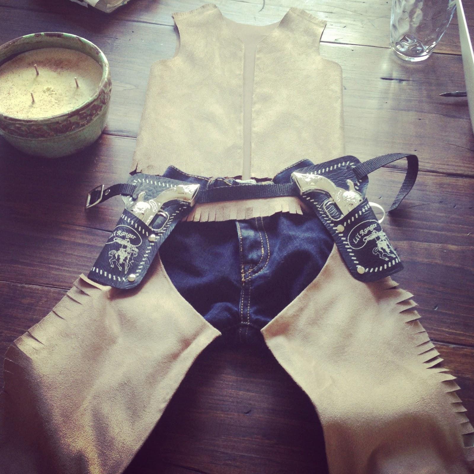 DIY NO SEW Cowboy Costume & House on 31 Main: DIY NO SEW Cowboy Costume