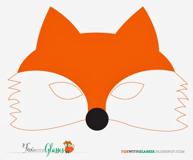 Fan image within printable fox mask