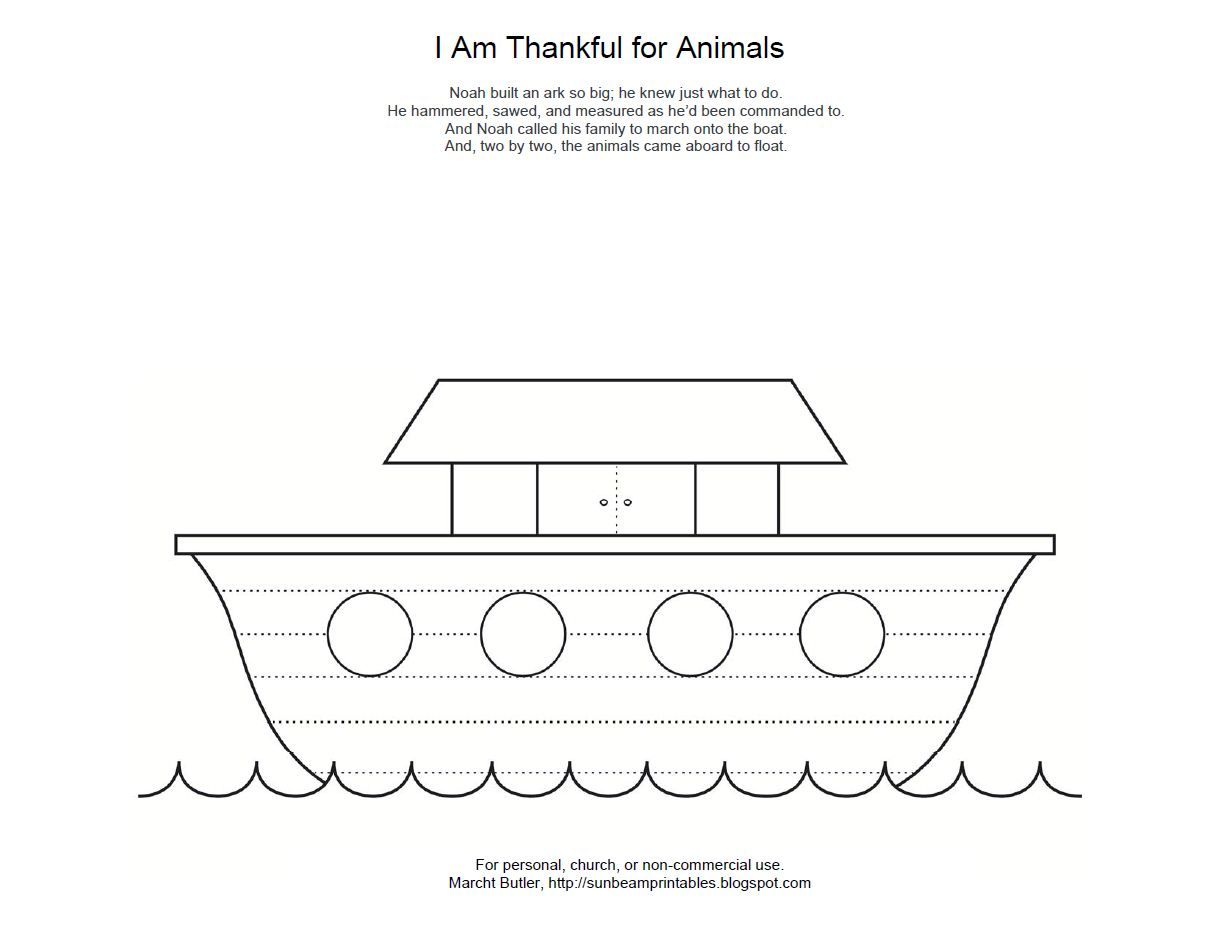Noah's Ark Rainbow Coloring Sheet http://sunbeamprintables.blogspot.com/2012/03/i-am-thankful-for-animals-noahs-ark.html
