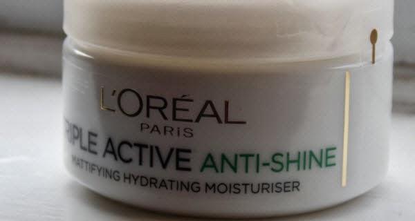 L'oreal Paris anti-shine moisturiser