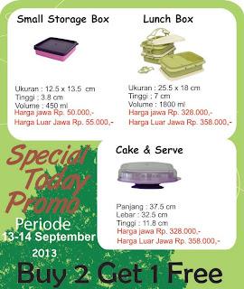 Promo Terbaru Tulipware 13-14 Sept 2013