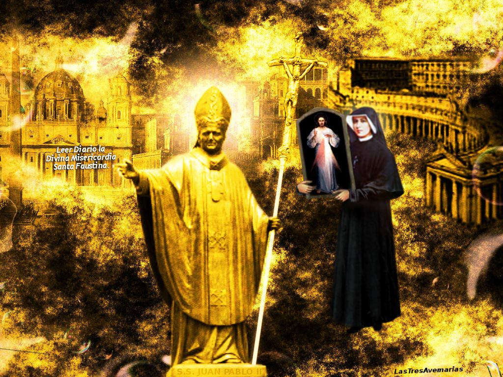 santa faustina y su santidad el papa jan segundo