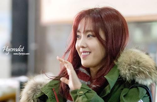 Foto T-ara Hyomin Dalam Kegiatan Syuting Acara Vitamins