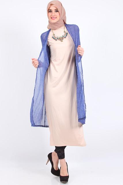 Model Cardigan panjang untuk Wanita Berhijab