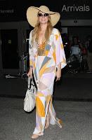 Paris Hilton hot in a retro dress