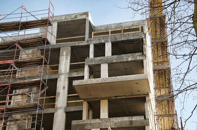 Baustelle Wohnhaus, Bötzowstraße / John-Schehr-Straße, 10407 Berlin, 07.01.2013